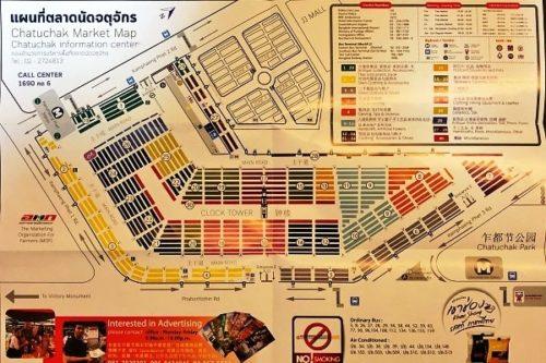 チャトチャックマーケットの地図