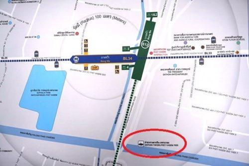BTSバンワーの地図