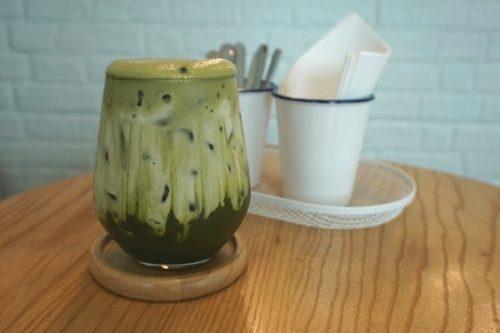 くもカフェの抹茶ラテ