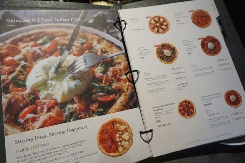 Pizza 4P'sのメニュー