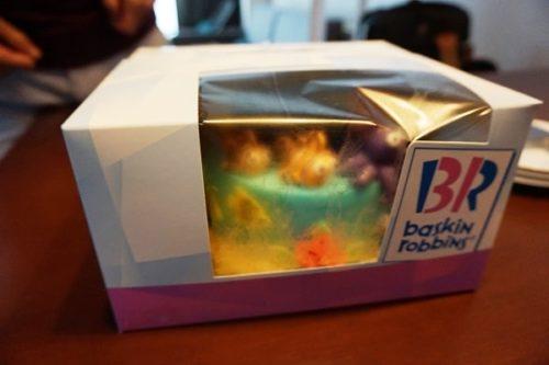アイスケーキの梱包